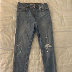 Levi's Wedgie Distressed Jeans